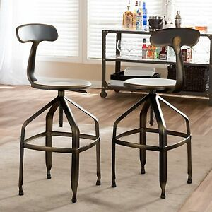 Surprising Details About Modern Industrial Swivel Bar Stool Metal Chair Seat Adjustable Counter Copper Unemploymentrelief Wooden Chair Designs For Living Room Unemploymentrelieforg