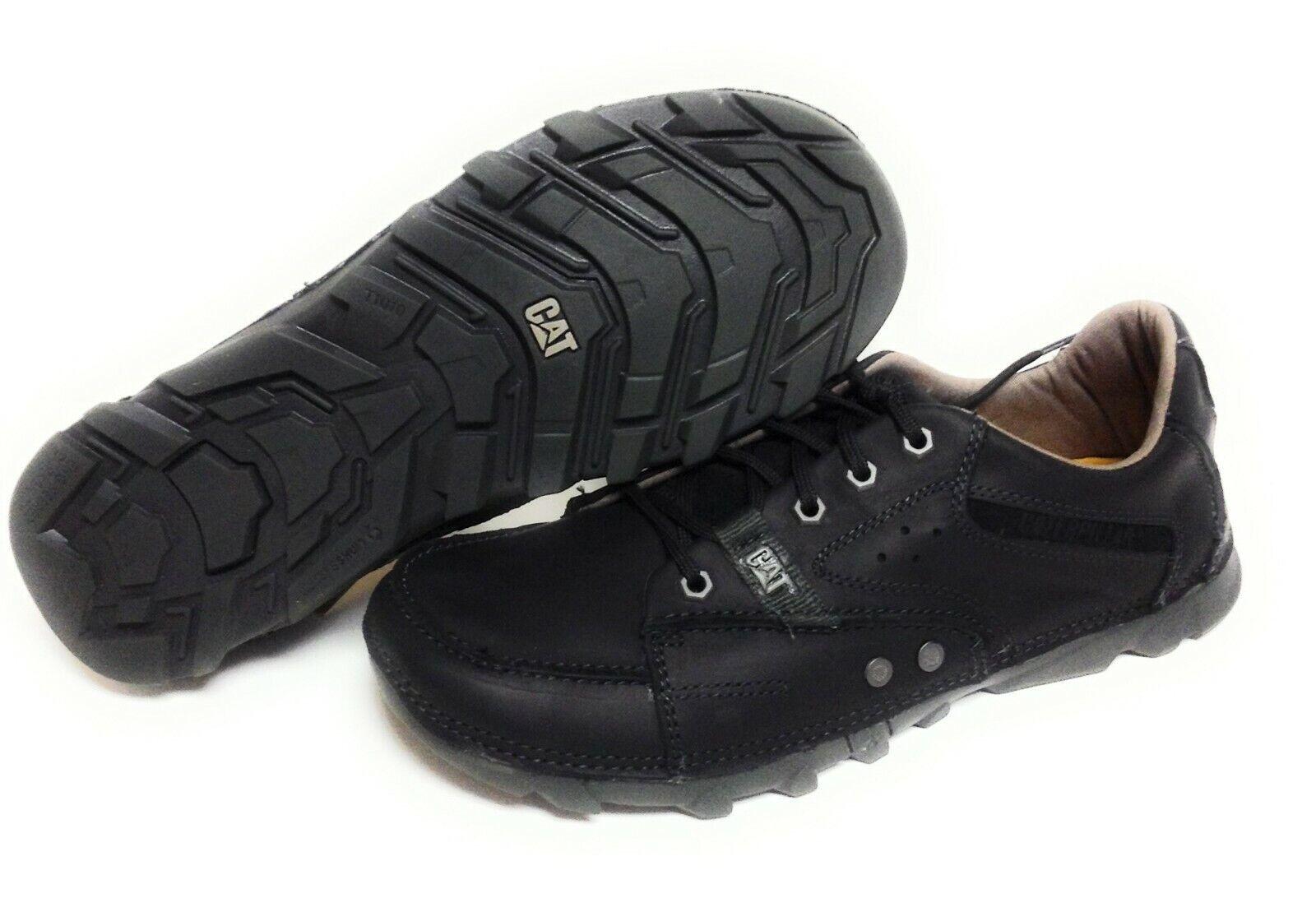 Mens Caterpillar Cat Stat P714815 Black Oxford Work Sneakers Shoes