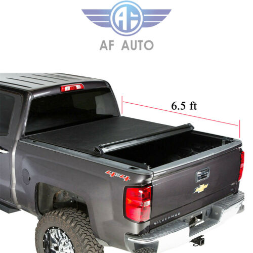 """For 07-13 Chevy Silverado GMC Sierra Roll Up Soft Tonneau Cover 6.5ft Bed 78/"""""""