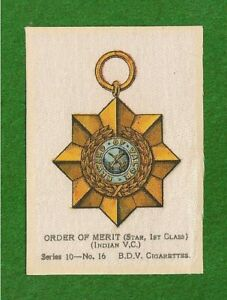 INDIAN-ORDER-of-MERIT-Star-1st-Class-Indian-Victoria-Cross-1915-original-Silk
