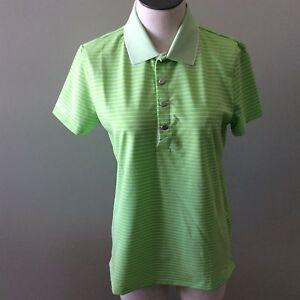 hot sale online 42607 073b4 Details zu Ralph Lauren Polo Rlx Damen Shirt Grün Gestreift Weiß Größe M  Kurzarm