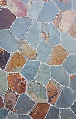 Sonstige Neueste Kollektion Von Natursteinplatten Polygonalplatten Buntschiefer Auf Netz Bruchplatten 29,95 €/qm