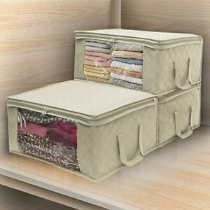 Non-woven-Space-Saver-Clothes-Quilt-Blanket-Storage-Bag-Box-Organizer-Portable
