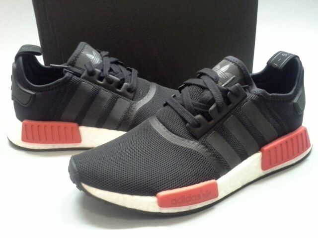 sale retailer 7a0f4 dc1e5 Size 8.5 New Adidas NMD_R1 Nomad Runner BRED BB1969 Black Red White NMD Pack