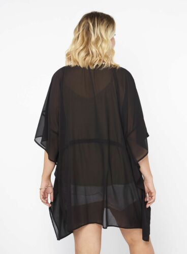 Size 14,16,18,20 Evans Black Kaftan Beach Cover Up New with Tags  Size Small