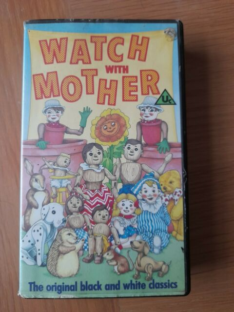 Watch With Mother BBC VHS VIDEO Andy Pandy Flowerpot Men Woodentops Bobtail