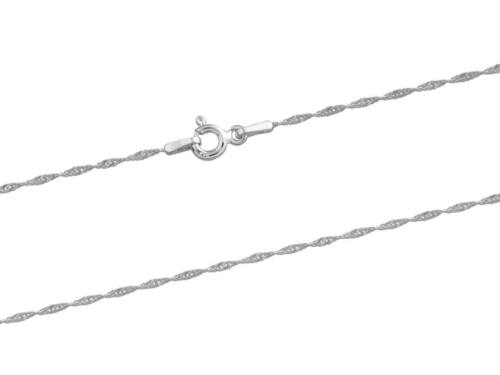 1.2mm // 16 inches // 0.90g 925 Sterling Silver Twisted Curb Chain Necklace