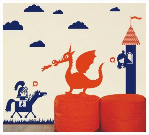 The Prince And The Dragon SA-12-006 Kids Removable Vinyl Wall Stickers