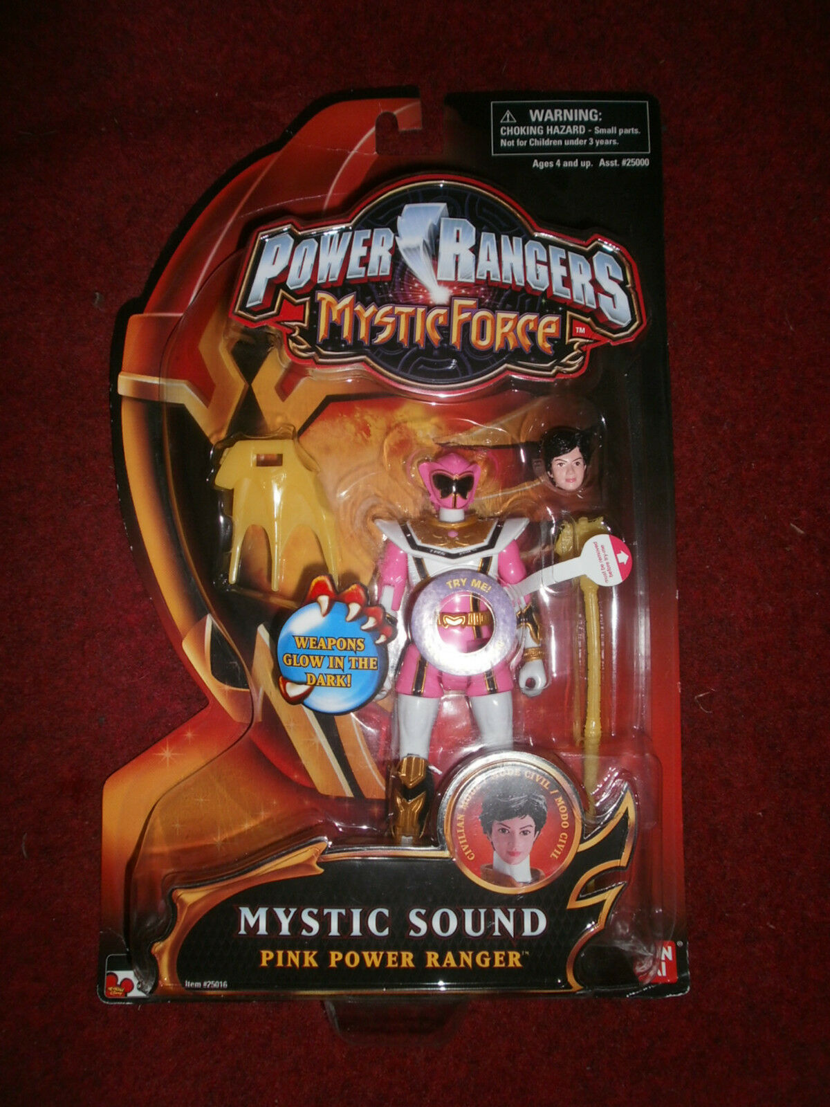 POWER RANGERS MYSTIC FORCE MYSTIC SOUND PINK POWER RANGER