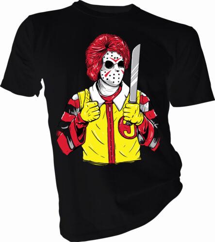 Mcdonalds Halloween Horror Hockey Mask Adult /& Kids T-Shirt Eat Healthy Kids