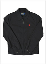 NWT Polo Ralph Lauren Men's LANDON Poplin Cotton Windbreaker, POLO BLACK XL