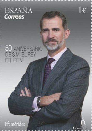[CF7215] España 2018, 50 cumpleaños Felipe VI (MNH)