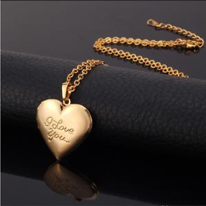 2de4a4981e80 Details about Collar para mujer colgante de corazón Cadena de Oro 18k  chapado Joyería de lujo