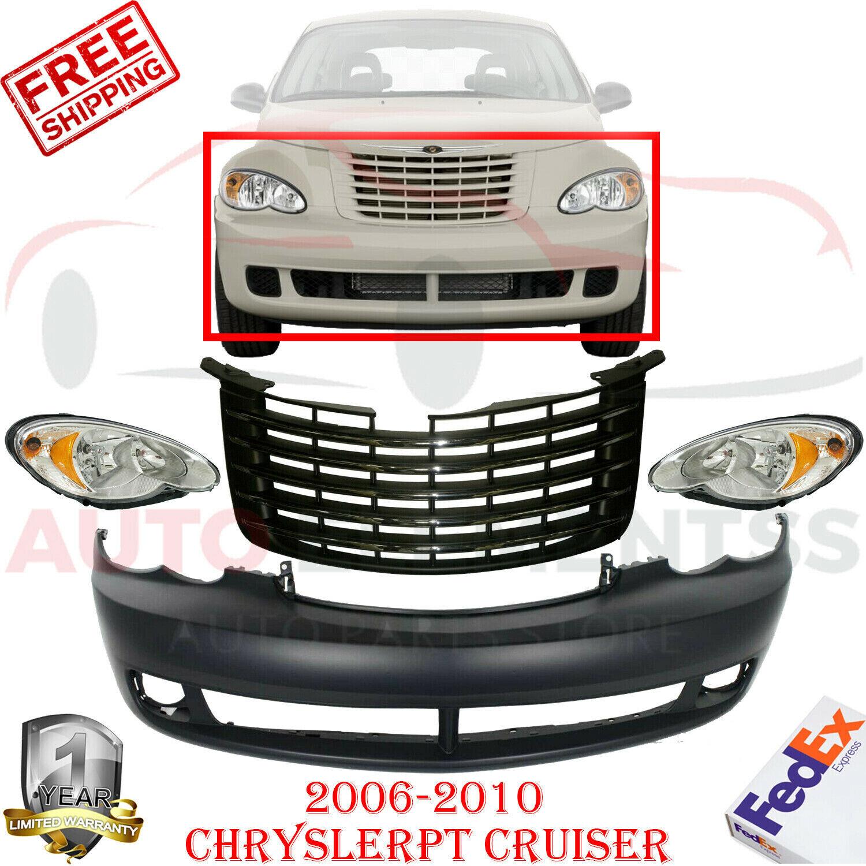 Front Bumper Cover Primed   Grille   Lights For 2006