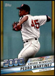 Pedro-Martinez-2020-Topps-Decade-039-s-Best-Series-2-5x7-Gold-DB-90-10-Red-Sox