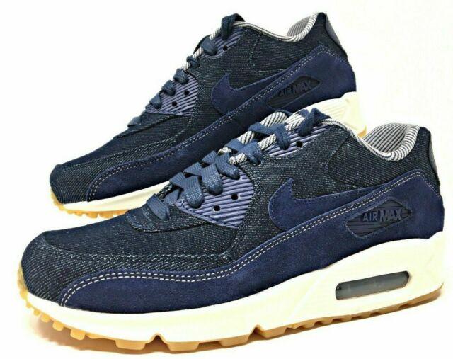 NIKE Air Max 90 SE Women's Shoes Denim Blue White Gum 881105 401 [Multi Size]