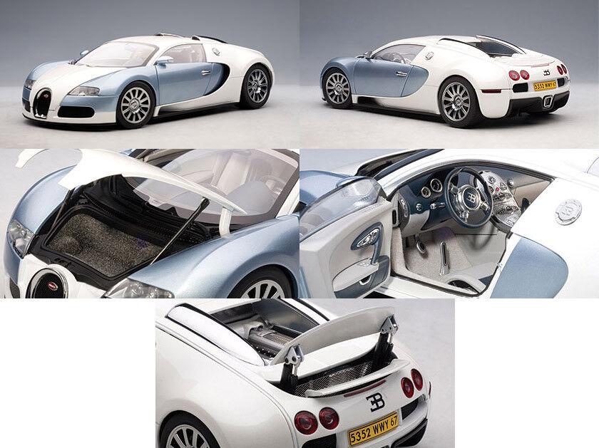 Autoart Bugatti Veyron Perla Azul 1 18 escala Diecast Modelo 70908