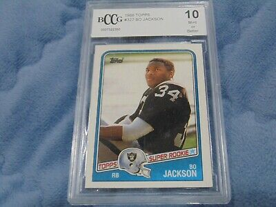 1988 topps #327 BO JACKSON oakland raiders rookie card BGS BCCG 10 Graded Card