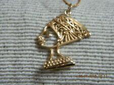 $$$Schöne Kette mit Kleopatra/Cleopatra Anhänger Goldf Modeschmuck 45 cm lang$$$