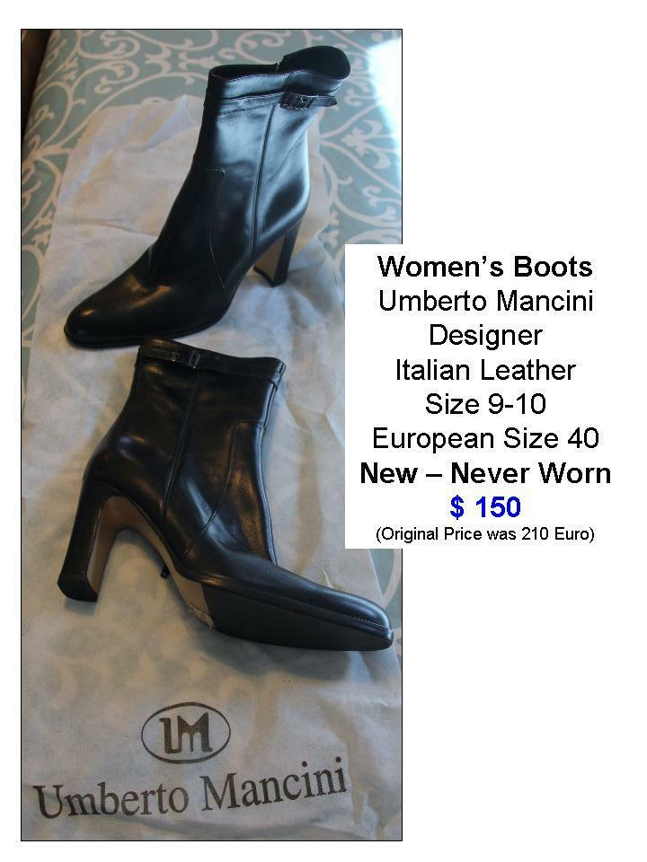 Woman's Boots Boots Boots Italian Leather Umberto Mancini - NEW - Euro Sz 40   US Sz 9-10 6936d1