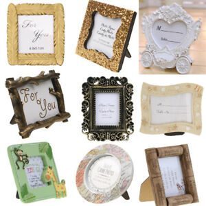 SharpRepublic Resin Stand Photo Picture Frame Table Decor Wedding Party Favor