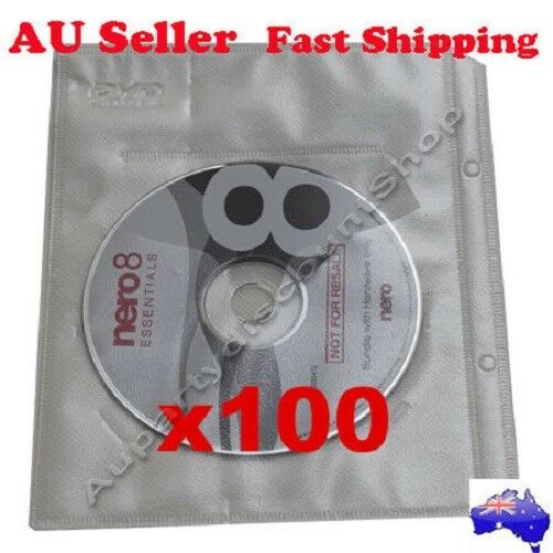 EBOX 100  White  CD Blue-ray DVD sleeves For dvd + Movie Game cover