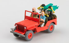 JEEP WILLYS MB 1946 COMICS TINTIN 1:43 COLLECTION ATLAS MODEL CAR RESIN
