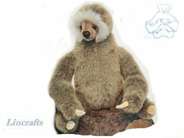 3 Toed Sloth with jointed head Plush Soft Toy by Hansa  4284