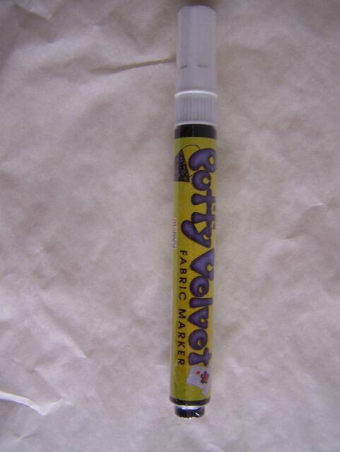 Puffy Velvet Fabric Marker 3 mm Tip Select Color