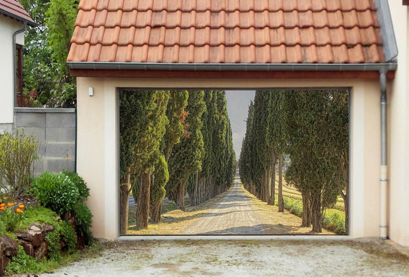 3D Roadside trees Garage Door Murals Wall Print Decal Wall Deco AJ WALLPAPER AU