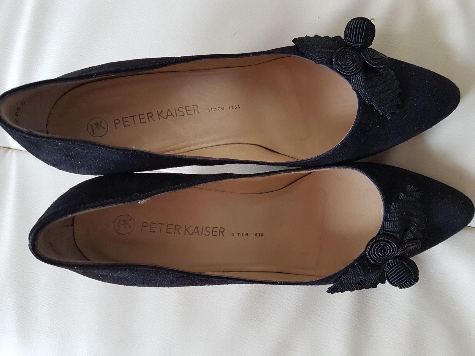 Eleganter schwarzer Wildlederpumps von Peter Kaiser, Gr. 6, neu neu neu 2ae247