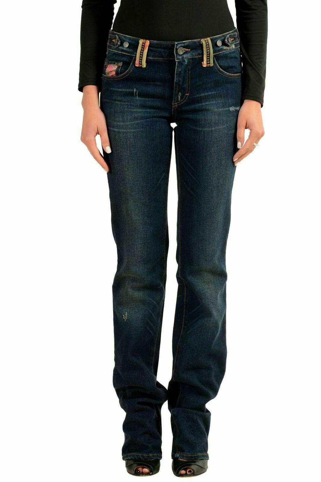 Galliano Decorato Donna Jeans Taglio Dritto Us 6 It 28