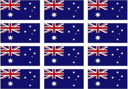 "12-2/"" Australia Flag Decal Ensign Commonwealth Star Hard Hat Helmet Sticker"