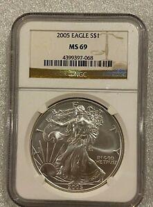 2005-NGC-MS-69-Silver-Eagle-Dollar-1-oz-Fine-silver-068