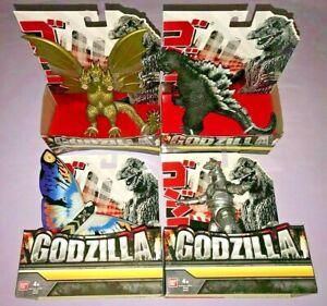4x figurines Godzilla 7 pouces Mecha / Roi Ghidorah Mothra