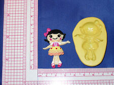 LalaLoopsy Silicone Push Mold Resin Clay Candy Bookscraping A483