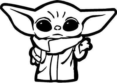 Baby Yoda Outline vinyl decal/sticker cute   eBay