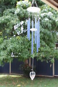 Heart-Glass-Windchime-Blue-Hanging-430mm-WIN044