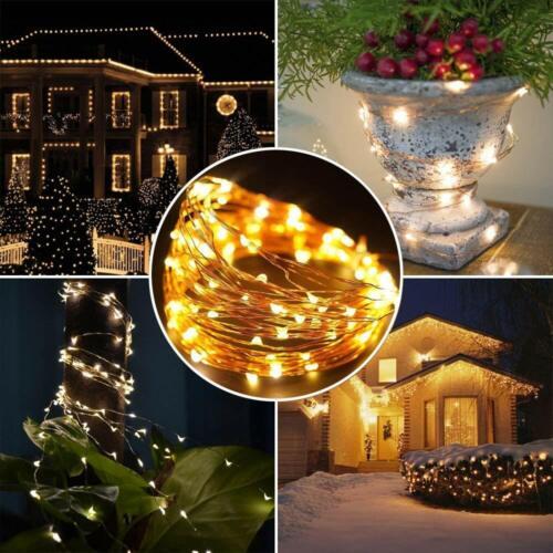 Solar Lichterkette 200 LED 20m Kupferdraht Lichter IP65 für Garten Hochzeiten