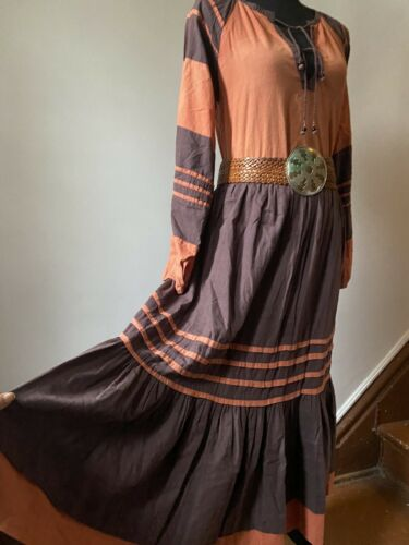 Vintage 70s Star of India Boho Prairie Indian Cott