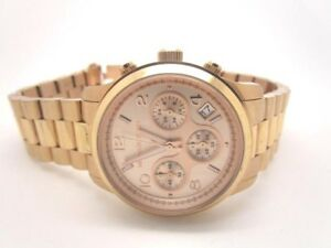 Image Is Loading Michael Kors Las Rose Gold Tone Bracelet Mk5128