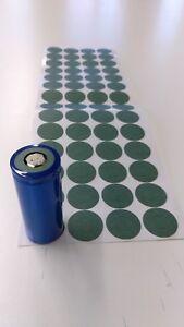 112pc-26650-DARK-GREY-Battery-Insulator-Ring-Adhesive-backing-ebike-DIYPowerwall