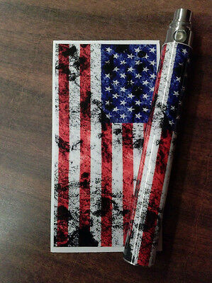 Battery Sticker Skin For eGo Type/Other Vape PV Wrap Glossy Vinyl -AMERICAN FLAG