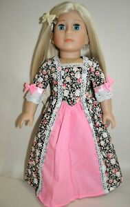 18-Doll-Clothes-Black-Peasant-Dress-Fits-American-Girl-Dolls-Our-Generation