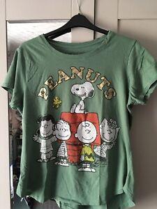 RARE Official Peanuts SNOOPY Khaki Peanuts Gang  Print T Shirt Sz 2XL
