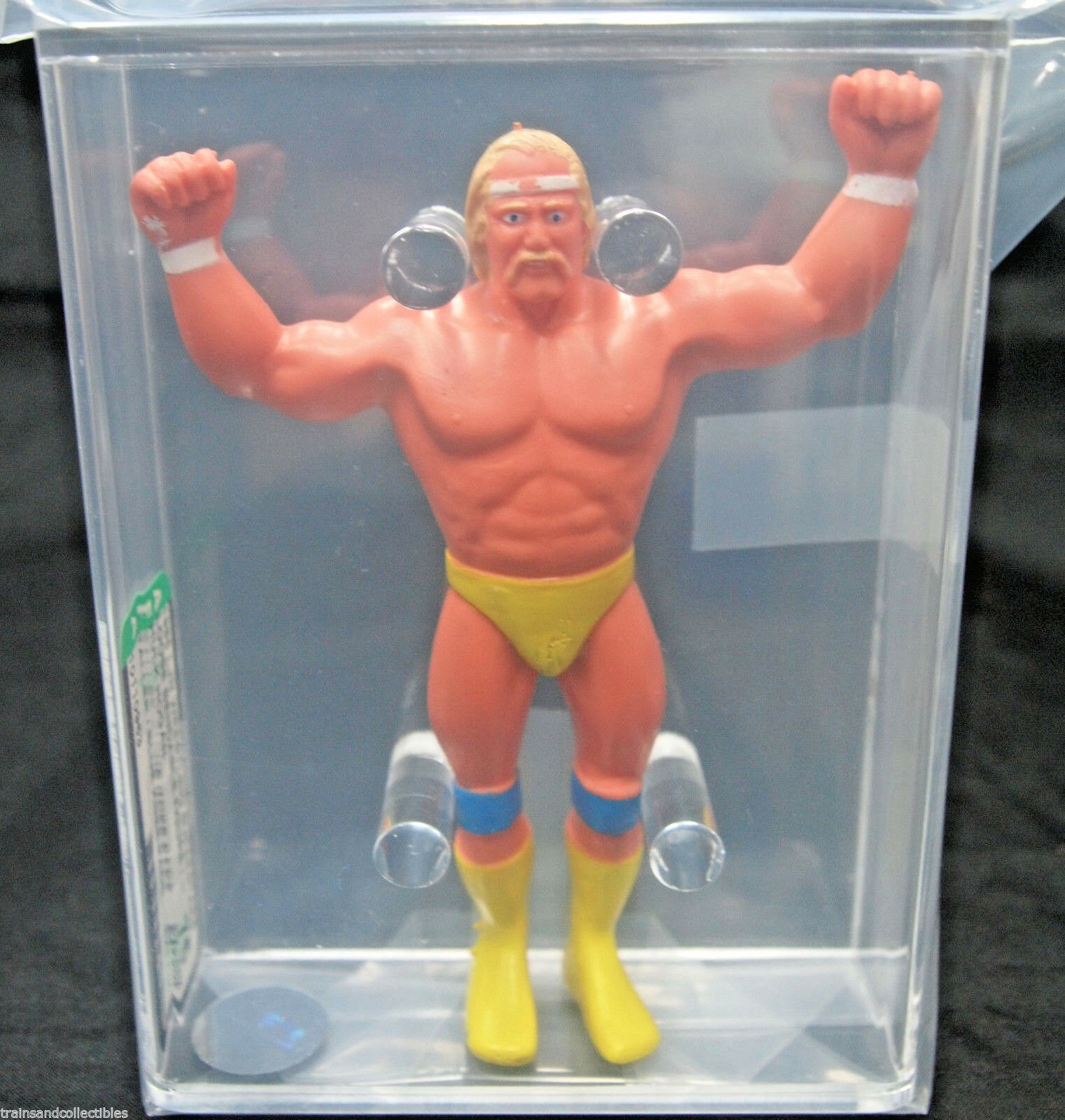 1985 LJN WRESTLING SUPERSTARS HULK HOGAN LOOSE BENDIES FIGURE AFA 75  10110963