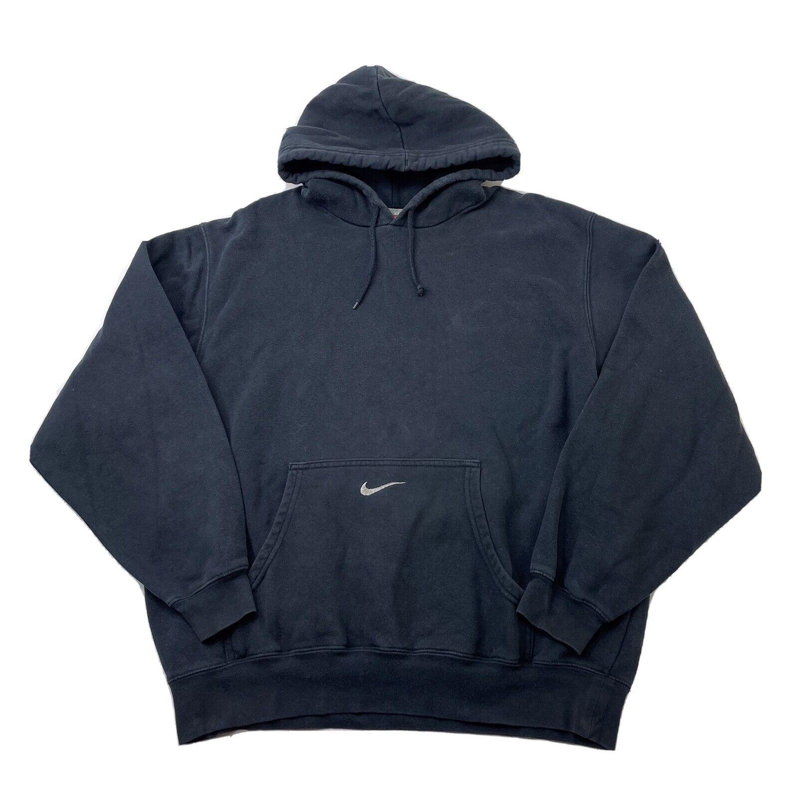 Vintage Nike Center Swoosh Hoodie Travis Scott 90… - image 1