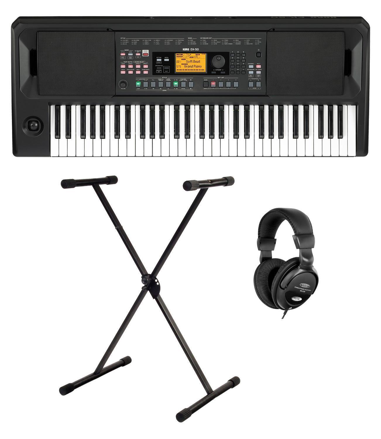 Geniales Entertainer Set mit 61-Tasten-Keyboard, X-Keyboardständer & Kopfhörer