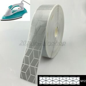 Image Is Loading Safety Silver Reflective Tape Fabric Iron On Heat