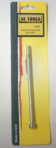"Aluminum Handle Mechanics Magnetic Pull Pick-Up 6/"" Pocket Magnet 5 Lbs Lift"